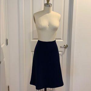 St. John Knits Navy Fit & Flair Skirt